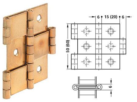 Charniere de paravent 50 bois de 16 mm 2c6 cuisinesr ngementsbains - Charniere de volet bois ...
