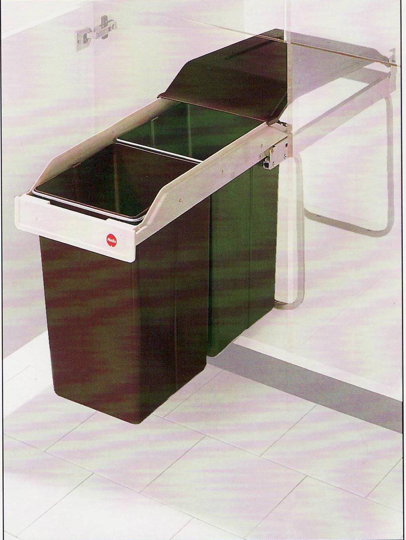 poubelle hailo 2 x 15 litres cuisinesr ngementsbains. Black Bedroom Furniture Sets. Home Design Ideas