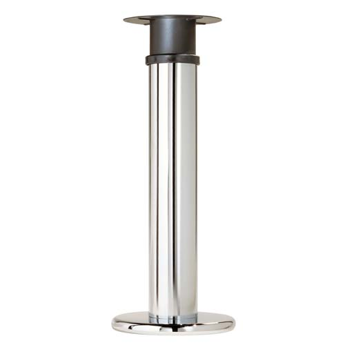 Pied peninsule acier chrome brillant cuisinesr ngementsbains for Pieds de bureau ikea