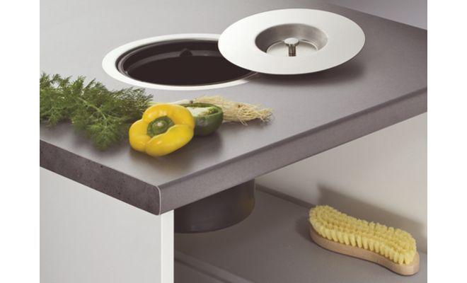poubelle 13 litres inox 5a8 cuisinesr ngementsbains. Black Bedroom Furniture Sets. Home Design Ideas