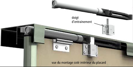 Porte de placard cuisinesr ngementsbains - Amortisseur de porte de placard ...