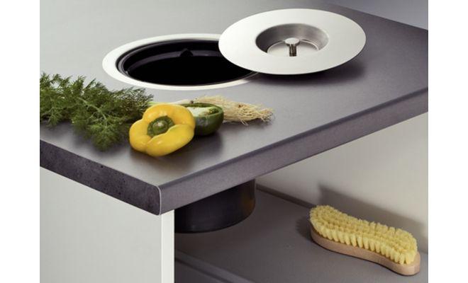 Poubelles de plan de travail cuisinesr ngementsbains - Poubelle encastrable plan de travail ...