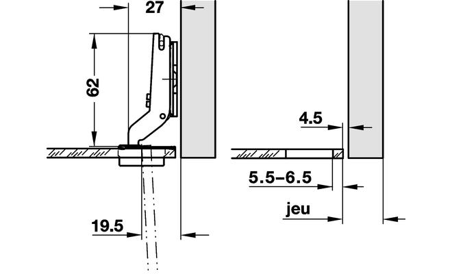 Charniere salice porte en verre cuisinesr ngementsbains for Meuble porte rentrante